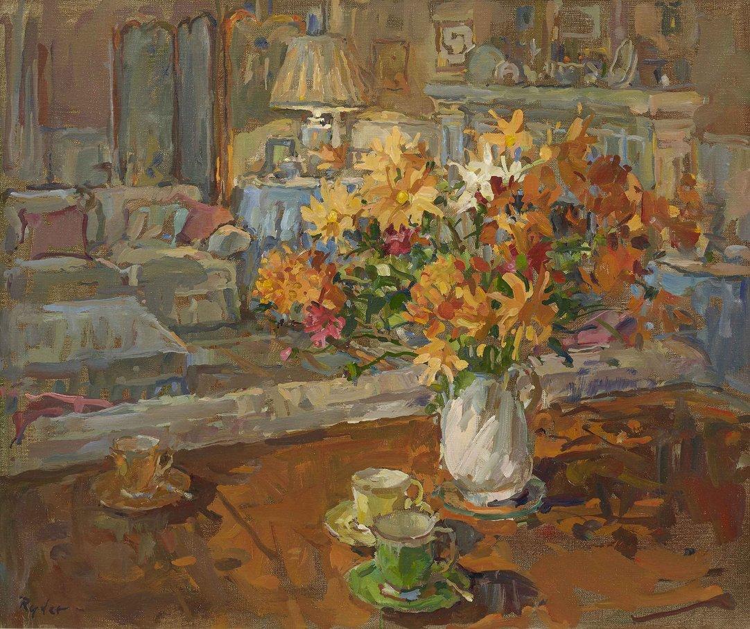 Coffee and Chrysanthemum