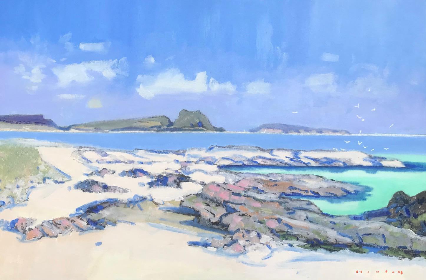 Dunaverty-Rock-from-Keil-Beach-oil-20-x-30-f213250