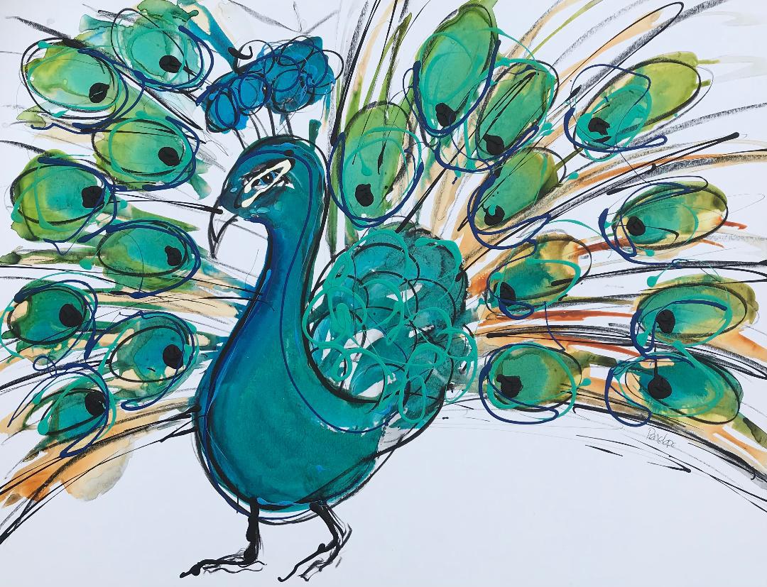 Happy Peacock