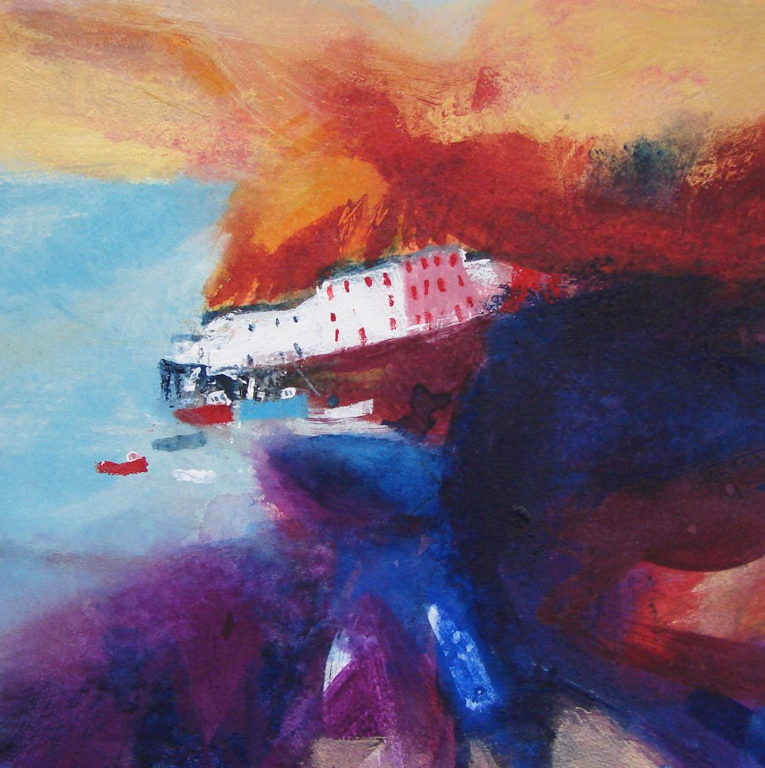 Harbour Boats 14 ins x 14 ins