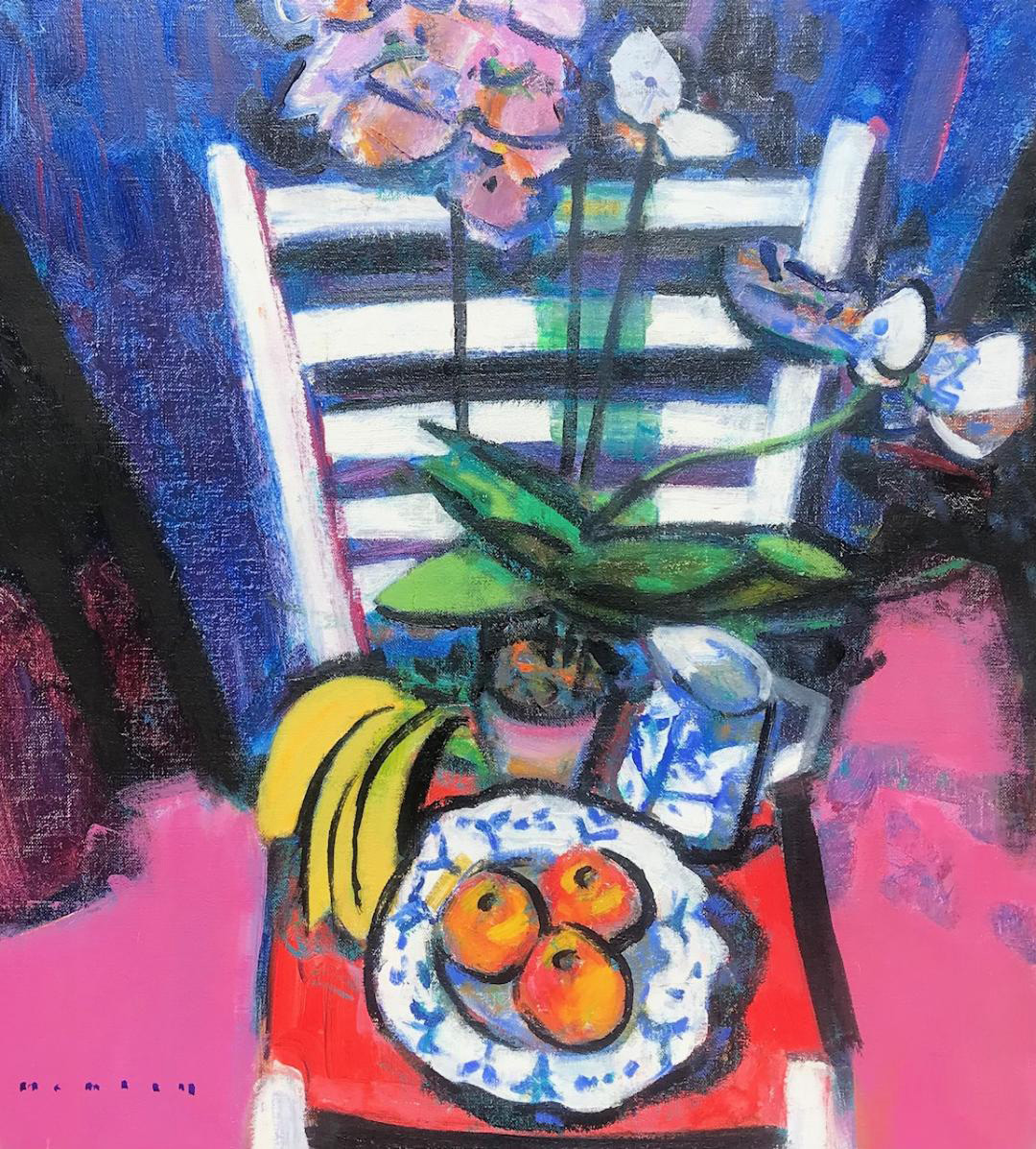 Ladder-Back-Chair-with-Orchids-and-Fruit-20-x-18-oil