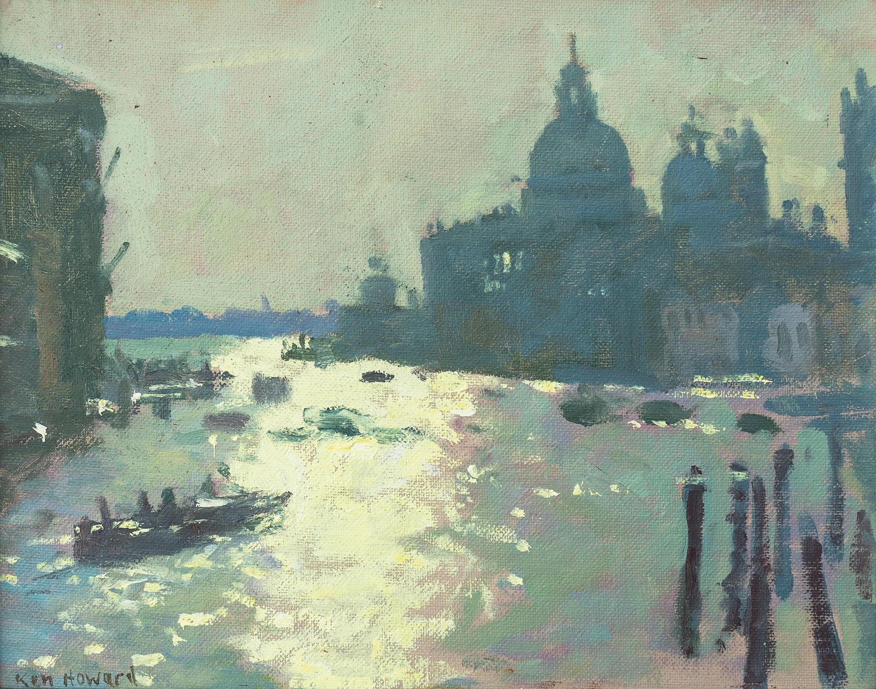 Light-on-the-Grand-Canal-oil-by-Ken-Howard--9.5-x-12