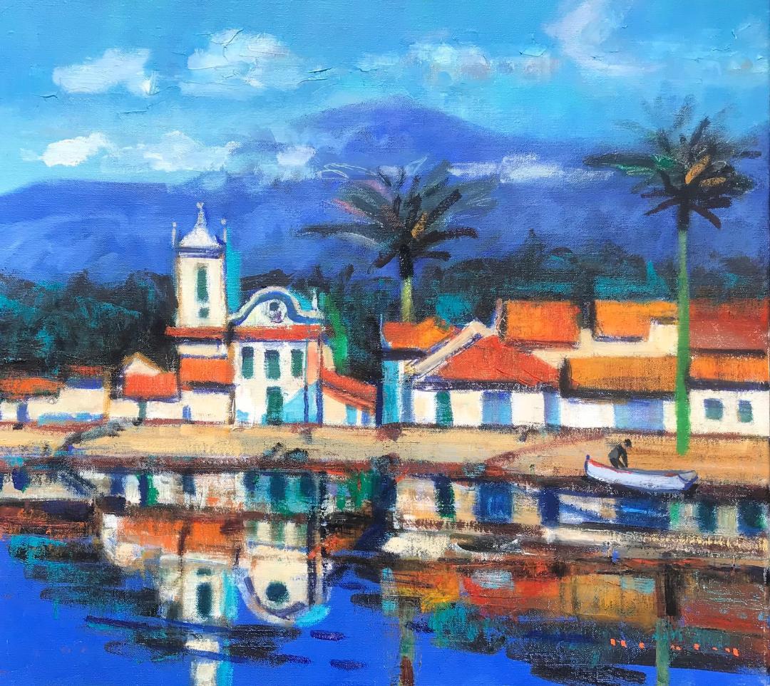 Paraty-Village-Rio-de-Janeiro-Brazil-18-x-20-oil