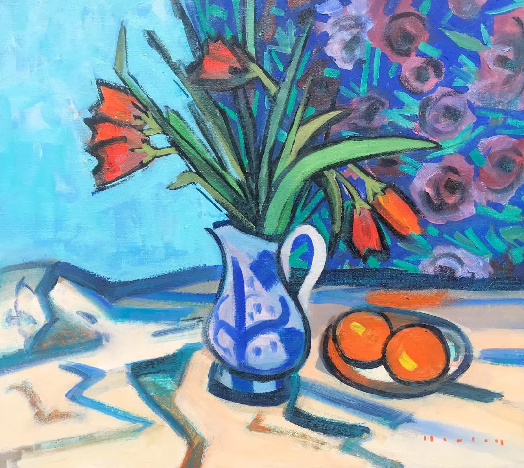 Still-Life-with-Tulips-in-Glasgow-Jug-18-x-20-oil