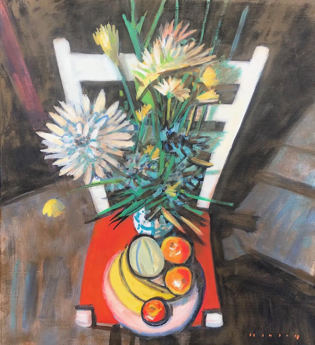 Studio-Still-Life-with-Fruit-and-Flowers-20-x-18-oil