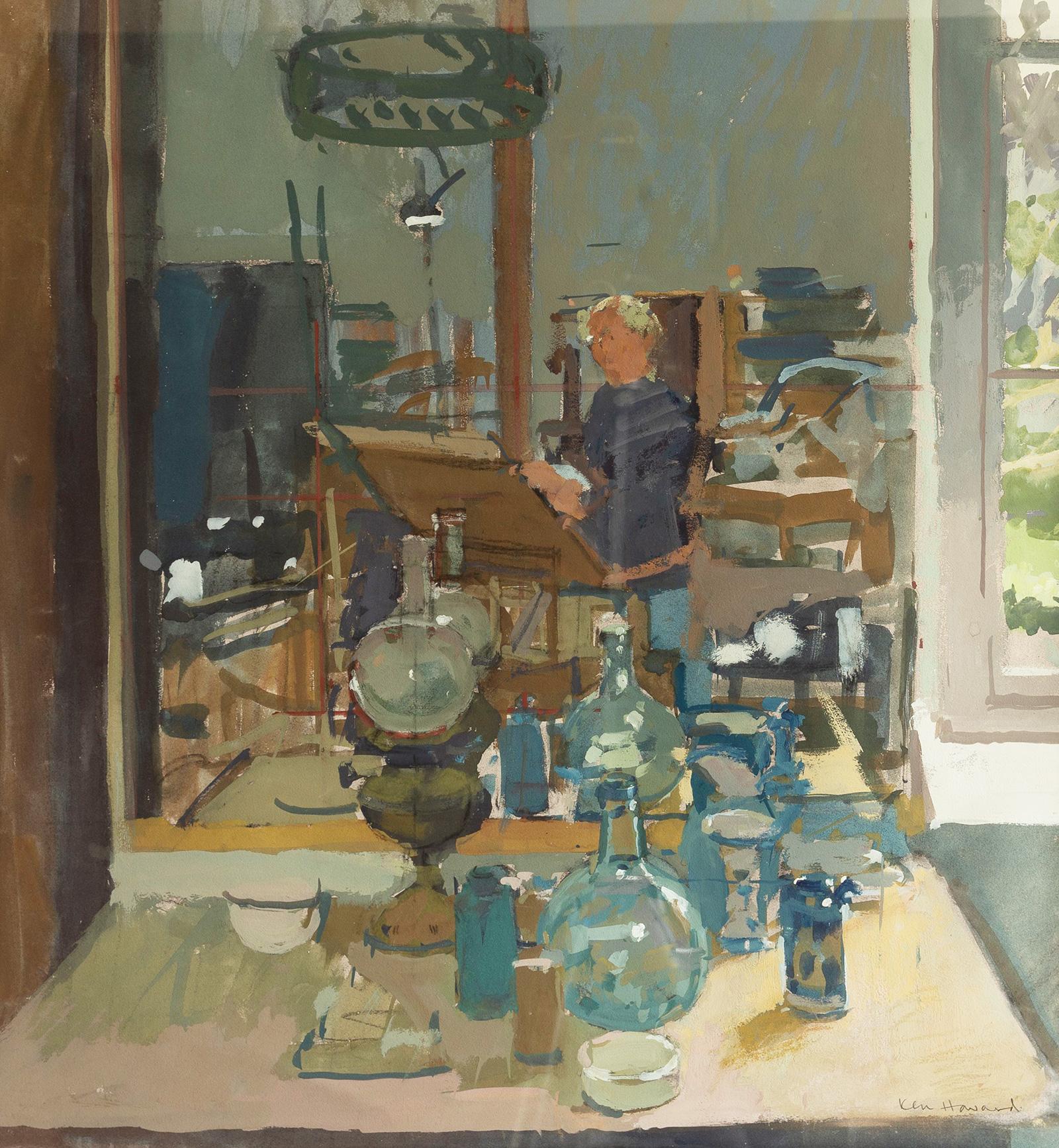 Watercolour-Ken-Howard-Self-Portrait--19-x-18