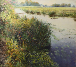 Summer Foliage along the River GP oil & pastel 30 x 34